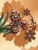 Bloemen halftone achtergrond Stock Fotografie