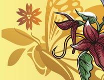 Bloemen halftone achtergrond Royalty-vrije Stock Foto's