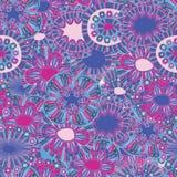 Bloemen hand-drawn behang Stock Foto's