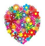 Bloemen hart Royalty-vrije Illustratie
