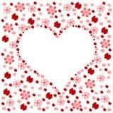 Bloemen hart Royalty-vrije Stock Afbeelding