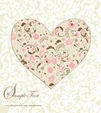 Bloemen hart Royalty-vrije Stock Foto's