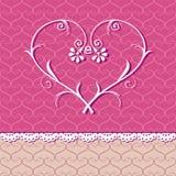 Bloemen hart Royalty-vrije Stock Afbeeldingen
