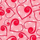 Bloemen hart Naadloos patroon Royalty-vrije Stock Fotografie