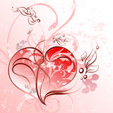 Bloemen hartachtergrond Stock Afbeelding