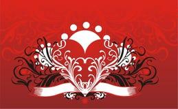 Bloemen hartachtergrond royalty-vrije illustratie
