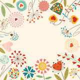 Bloemen hartenkaart Royalty-vrije Stock Afbeelding