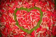 Bloemen hartvorm Stock Afbeelding