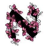 Bloemen Hebreeuwse doopvont brieven Aleph van bloemen Hebreeuws alfabet De hand trekt doodle Vectorbeeld op geïsoleerde achtergro royalty-vrije illustratie