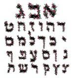 Bloemen Hebreeuwse doopvont brieven van bloemen Hebreeuws alfabet De hand trekt doodle Vectorbeeld op geïsoleerde achtergrond vector illustratie