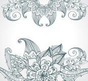 Bloemen heldere krabbelillustratie Royalty-vrije Stock Afbeeldingen