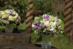 Bloemen in het glas Stock Afbeeldingen