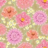 Bloemen het herhalen behang Stock Foto's