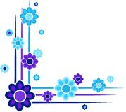 Bloemen hoeken stock illustratie