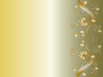 Bloemen hoekontwerp voor huwelijk royalty-vrije illustratie