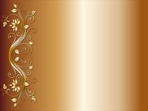 Bloemen hoekontwerp voor huwelijk stock illustratie