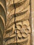 Bloemen houten oppervlakte Stock Afbeeldingen