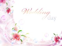 Bloemen huwelijksframe stock illustratie