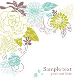 Bloemen huwelijkskaart met tekst Stock Foto