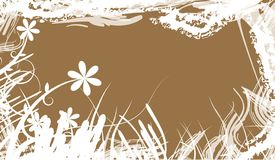 Bloemen illustratie royalty-vrije stock foto's