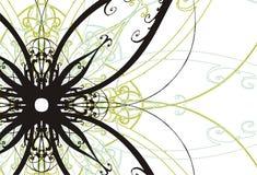 Bloemen illustratie als achtergrond Royalty-vrije Stock Afbeeldingen