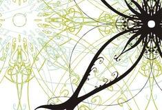 Bloemen illustratie als achtergrond Stock Afbeeldingen