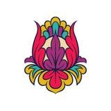 Bloemen Indisch patroon Abstract decoratief element Mooi abstract ornament Vectorontwerp voor prentbriefkaar of textiel royalty-vrije illustratie