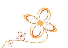 Bloemen installatie - vector Stock Afbeelding
