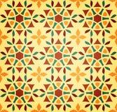 Bloemen Islamitisch Naadloos Patroon Stock Afbeelding