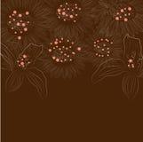 Bloemen kaart stock illustratie