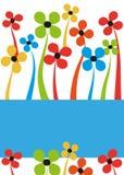 Bloemen kaart Royalty-vrije Stock Foto