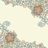 Bloemen-kaart stock illustratie