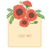 Bloemen kaart Stock Afbeeldingen