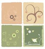 Bloemen Kaart Stock Afbeelding