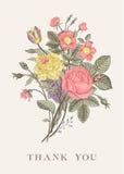Bloemen kaart Royalty-vrije Stock Foto's
