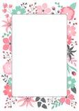 Bloemen kaart Royalty-vrije Stock Afbeelding