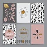 Bloemen kaart Royalty-vrije Stock Afbeeldingen