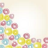 Bloemen kaart met abstracte rozen Stock Fotografie