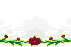 Bloemen kaart met golvende lijnen Royalty-vrije Stock Foto