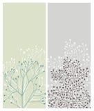 Bloemen kaarten Stock Afbeelding