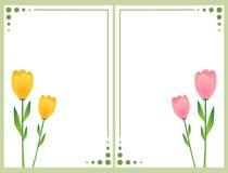 Bloemen kaarten met tulpen Stock Afbeelding
