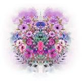 bloemen kleurrijk hart vector illustratie