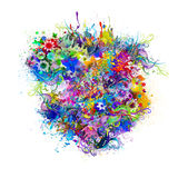 bloemen kleurrijk hart royalty-vrije illustratie