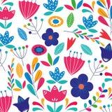 Bloemen kleurrijke backgorund stock illustratie