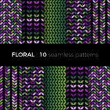 Bloemen kleurrijke patronen Stock Foto