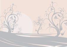 Bloemen landschap Royalty-vrije Stock Fotografie
