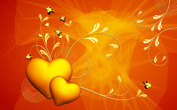 Bloemen liefde Stock Foto