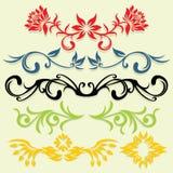 Bloemen lijnen Stock Afbeeldingen
