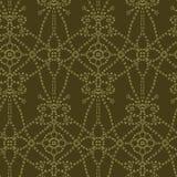 Bloemen lopende de steekstijl van het bladmotief Victoriaans handwerk naadloos vectorpatroon Sier het brokaat textieldruk van de  vector illustratie