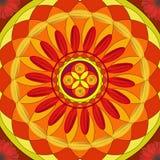 Bloemen mandala, geometrische tekening - heilige cirkel stock illustratie